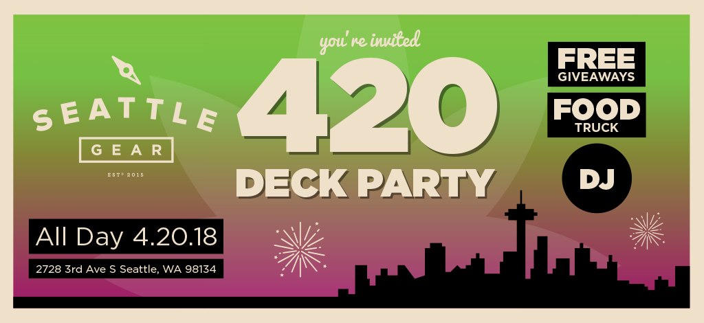 You're invited Cannabis City 420 Deck Party All Day 4.20.18
