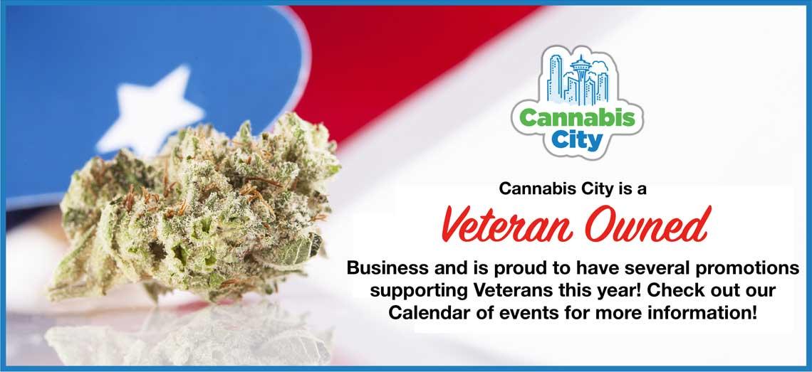 Cannabis City Veterans Day Sale